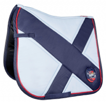 HKM PRO TEAM COUNTY  SADDLE PAD - SKY BLUE  - RRP £36.99